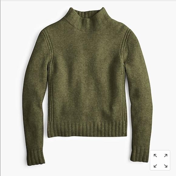 J. Crew green wool turtle neck sweater